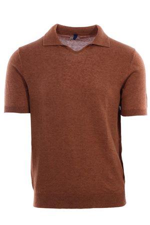 Polo maglia collo a v in lino e cotone MC LAUREN | 2 | CM602P80GERBY85