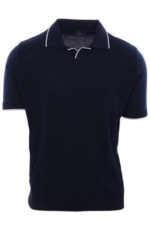Polo maglia collo a v in cotone punto zigzag N&L | 2 | 36612008