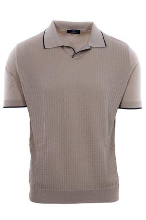 Polo maglia collo a v in cotone punto zigzag N&L | 2 | 36612040