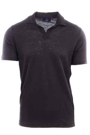 Polo collo a v in lino N&L | 2 | 6016296800404