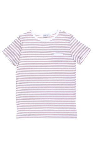 T-shirt manica corta rigata PAOLO PECORA | 8 | PP1327BIANCO/BEIGE