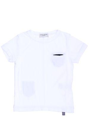 T-shirt manica corta in cotone PAOLO PECORA | 8 | PP1336BIANCO/BLU