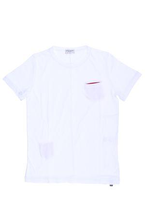 T-shirt manica corta in cotone PAOLO PECORA | 8 | PP1336BIANCO/ROSSO