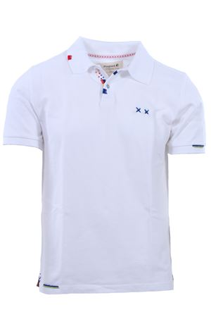 Polo gipsy prepster in piquet di cotone distressed PROJECT E XX | 2 | MPGWHITE