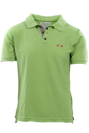 Polo heavy mending in piquet di cotone vintage PROJECT E XX | 2 | MSHSPRING GREEN