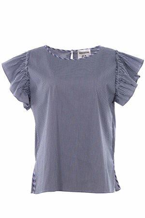 T-shirt vichy con ruches SEMICOUTURE | 8 | P8YY8PK04VIC