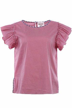 T-shirt vichy con ruches SEMICOUTURE | 8 | P8YY8PK04VICR