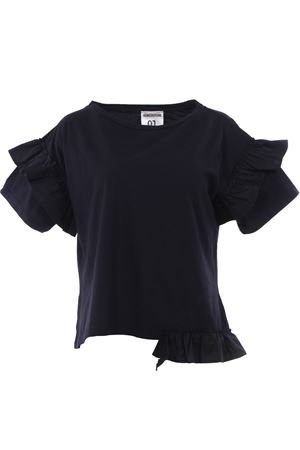 T-shirt con ruches in cotone SEMICOUTURE | 8 | P8YY8PM09950