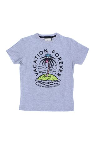 T-shirt in cotone con stampa SHOE | 8 | E8TM0147HEATHER