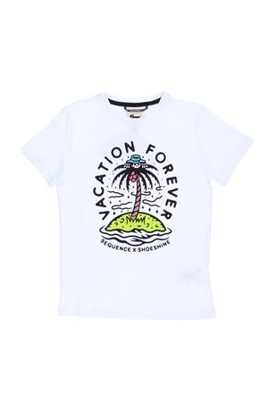 T-shirt in cotone con stampa SHOE | 8 | E8TM0147WHITE