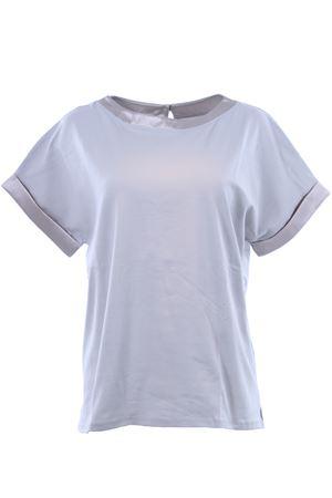 T-shirt girocollo in cotone SNOBBY SHEEP | 8 | 37040CEMENTO