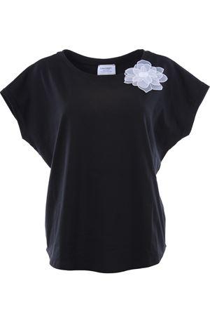 T-shirt girocollo in cotone SNOBBY SHEEP | 8 | 38065BLACK