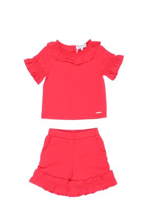 T-shirt e shorts con ruches TWIN SET | 5032309 | FS82KN00128