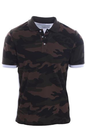 Bimaterial polo patch camouflage