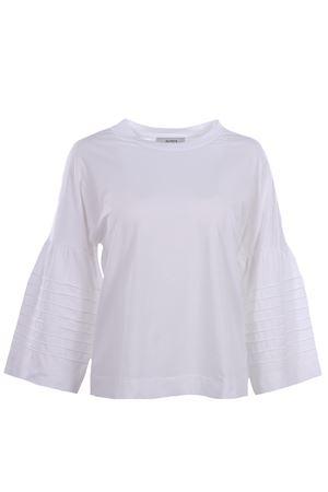 T-shirt girocollo in cotone con manica svasata ALPHA | 8 | AD1405C7100