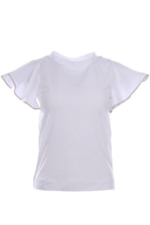 Cotton t-shirt with trim