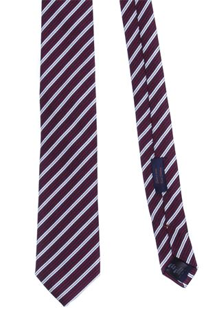 Striped jacquard tie