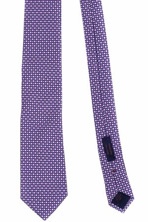 Printed silk tie