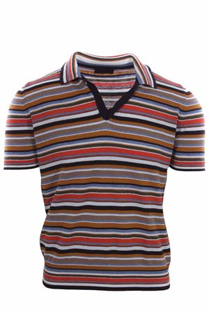 Multicolor polo sweater