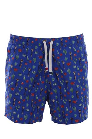 Swim shorts with hawaii print