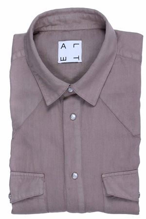 Cotton and linen texan shirt