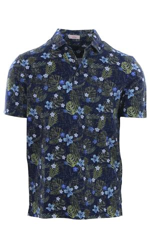 Polo with tropical print