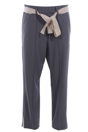 Pantaloni con elastico in vita e cintura ALYSI | 5032272 | 109124P9040PIETRA