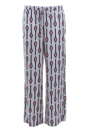 Pantaloni in seta a gamba larga con coulisse  ALYSI | 5032272 | 109143P9029LATTE