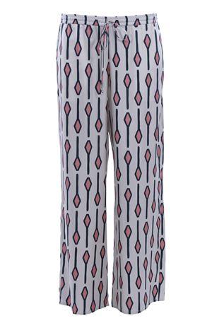 Silk pants with drawstring ALYSI | 5032272 | 109143P9029LATTE