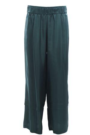 Pantaloni a palazzo in seta con pinces ALYSI | 5032272 | 109170P9244VERDERAME