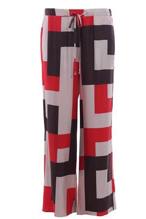 Pantaloni a gamba larga con coulisse in seta ALYSI | 5032272 | 109194P9229PAPAVERO