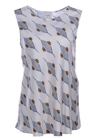Silk tunic ALYSI | 8 | 109240P9029COBALTO
