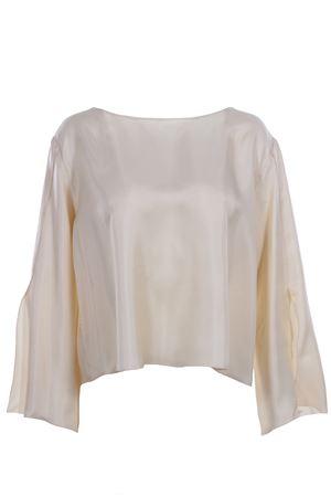 Silk tunic with sleeve slits ALYSI | 5032279 | 109258P9244AVENA