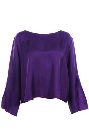 Silk tunic with sleeve slits ALYSI | 5032279 | 109258P9244VIOLA