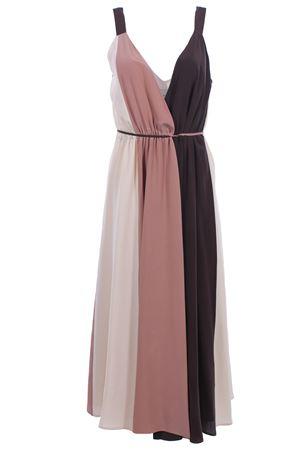 Calf lenght silk dress ALYSI | 5032276 | 109363P9226MIX
