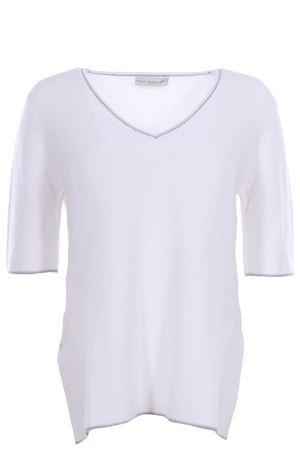 Cotton v-neck with profiles ANNA SERRAVALLI | -161048383 | S649002