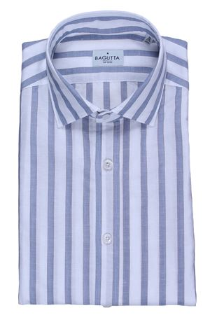 Linen and cotton striped shirt