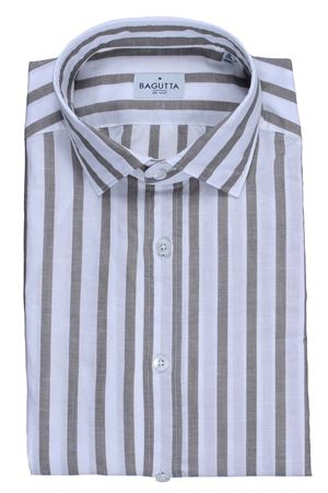 Camicia a righe in cotone e lino BAGUTTA | 5032279 | BERLINOEBL08899260