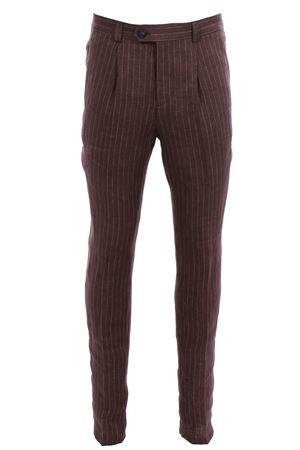 Pantalone gessato in lino CUCINELLI | 5032272 | MD445E1450C003