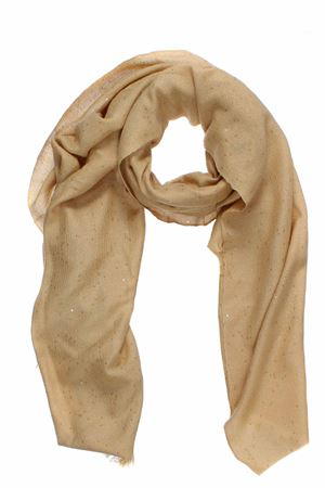 Scarf with micro sequins