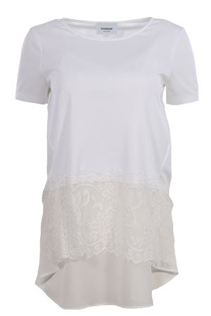 T-shirt with lace inserts DONDUP | 8 | S769JF0184DXXX000