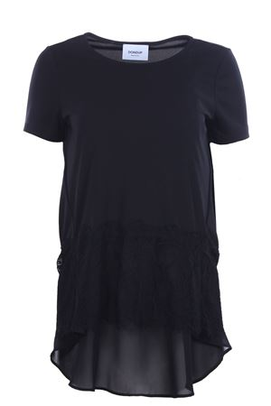 T-shirt with lace inserts DONDUP | 8 | S769JF0184DXXX999