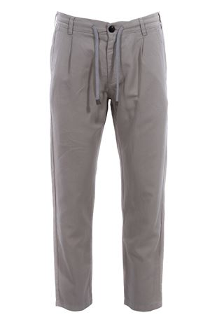 Cotton and linen jogging pants