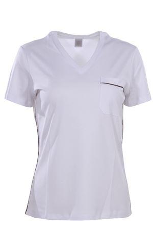 T-shirt collo a v in cotone ELEVENTY | 8 | 980TS0075TSH2501101