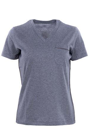 T-shirt manica corta collo a v in cotone ELEVENTY | 8 | 980TS0075TSH2501213