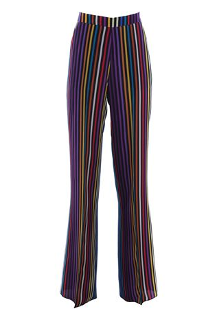 Multicolored silk pants