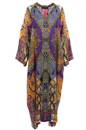 Multicolored caftan dress