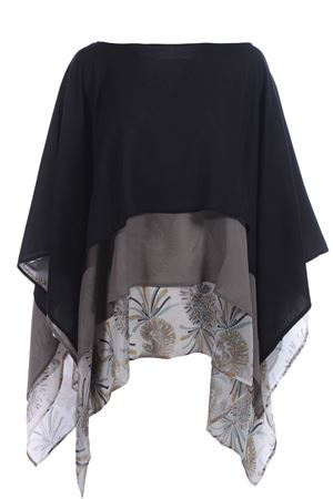 Silk poncho with flounces ETRO | 5032315 | 165205699990