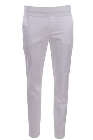 Cotton pants with elastic band