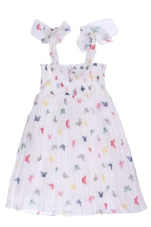Cotton dress with butterfly print
